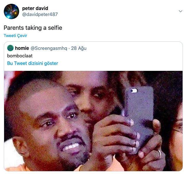 """8. """"Ebeveynler selfie çekiyor."""""""
