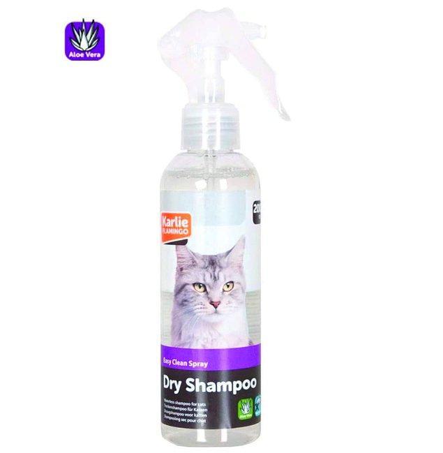 18. Kedi ve köpekler için olan kuru şampuanlar tam bir kurtarıcı olabiliyor.