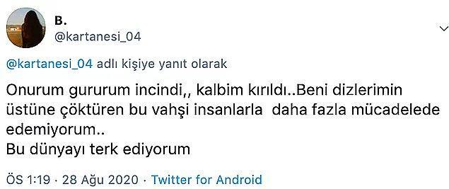 9. Avukat Ünal Işık'ın cinsel saldırıda bulunduğu genç kadının Twitter'dan son sözlerini paylaşması...