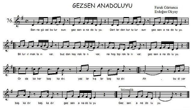 Başlığı okuduğunuz anda pek çoğunuzun aklına ilk gelen şarkıyla başlıyoruz: Sen ne güzel bulursun, Gezsen Anadolu'yu!