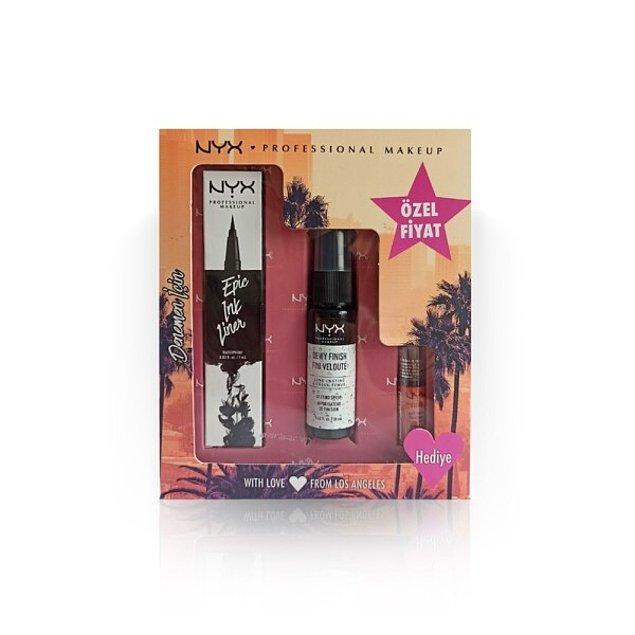 8. Sen de bu tanışma seti ile NYX Professional Makeup'ın renkli ve profesyonel dünyasını keşfet!