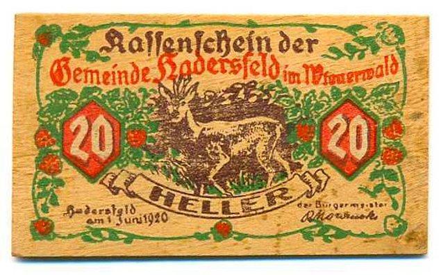8. Birinci Dünya Savaşı'ndan sonra Almanya'da enflasyon kontrolden çıktı ve bu da bazı kasabaların tahtadan kendi paralarını kazanmasına neden oldu.