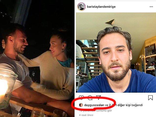 5. Ünlü YouTuber Duygu Özaslan, eski sevgilisi Taylan Demirige'nin Instagram paylaşımını beğendi!
