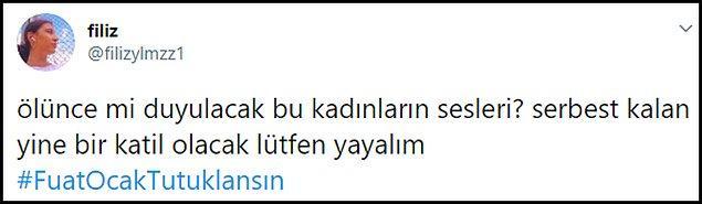 Genç kadının paylaşımlarının ardından #FuatOcakTutuklansın etiketi sosyal medyada gündem oldu. 👇