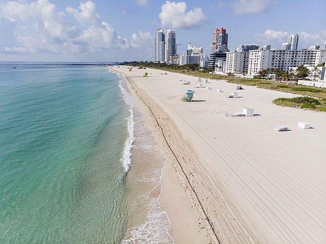 1. Miami Beach'teki denize kıyısı olan otellerde plastik pipet kullanımı yasaklanmıştır.