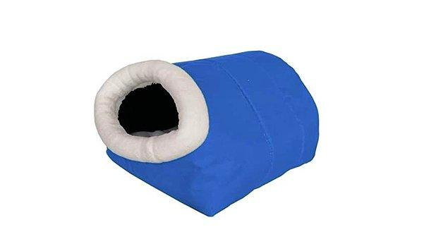 Kedi Köpek Tünel Yatak 27 * 35 * 50 cm Mavi