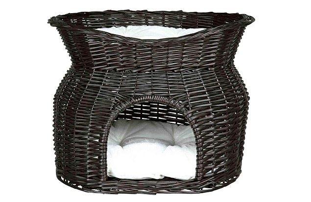 Trixie İki Katlı Kedi Yatağı, 54X43X37 cm Siyah