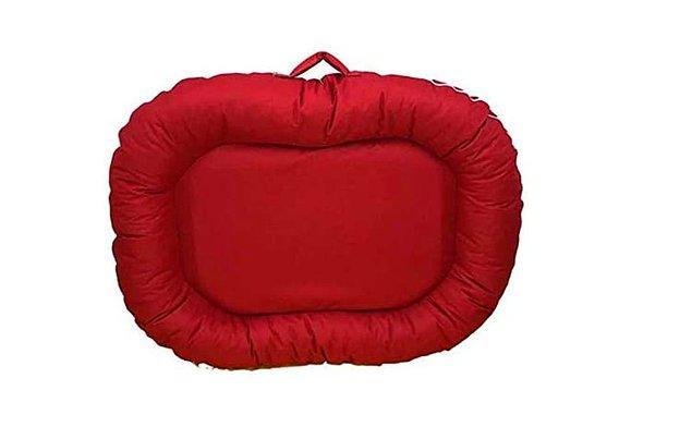 Bedspet Dış Mekan Kedi Köpek Yatağı 115x125 cm Kırmızı