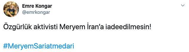 Meryem'in İran'a iade edilmemesi için Twitter'da binlerce paylaşım yapıldı 👇