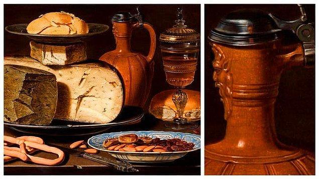 10. 'Peynirli, Bademli ve Tuzlu Natürmort', Clara Peeters