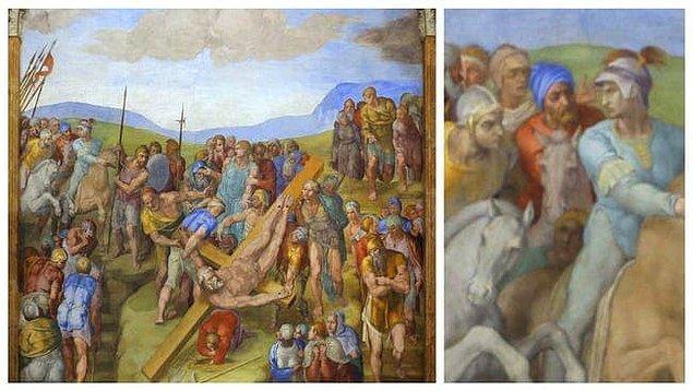 3. 'Aziz Petrus'un Çarmıha Gerilmesi', Michelangelo