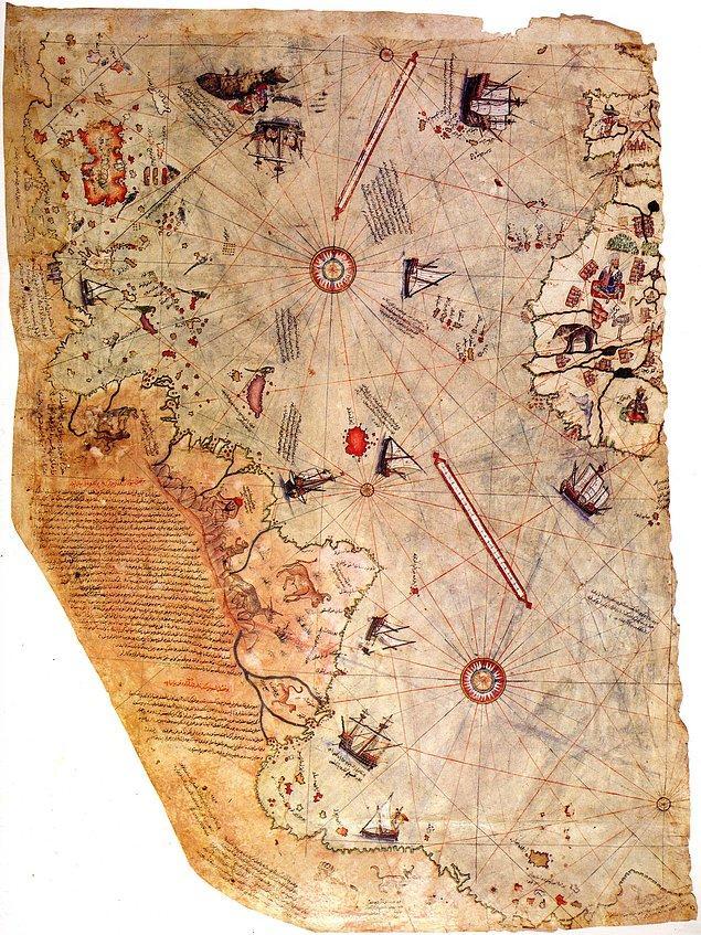 3. Piri Reis'in dünya haritası
