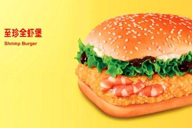 3. Karidesli burger...