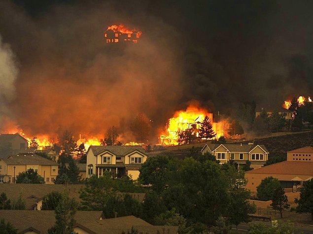 12. Küresel ısınmayla gelen yangın, Colorado.