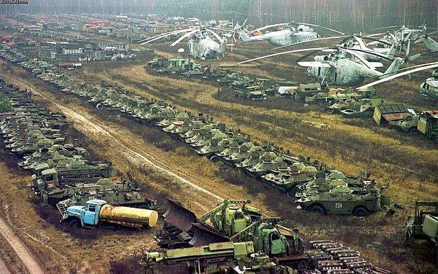Bir diğer uçak mezarlığı ise Çernobil'de yer alıyor.