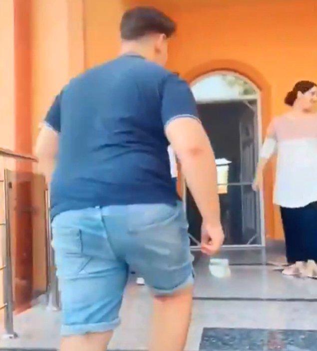 Onca kadının arasından bir erkek merdivenlerden çıkarken kamera da o erkeğe çevriliyor. İddiaya göre damadımız bu kişi...