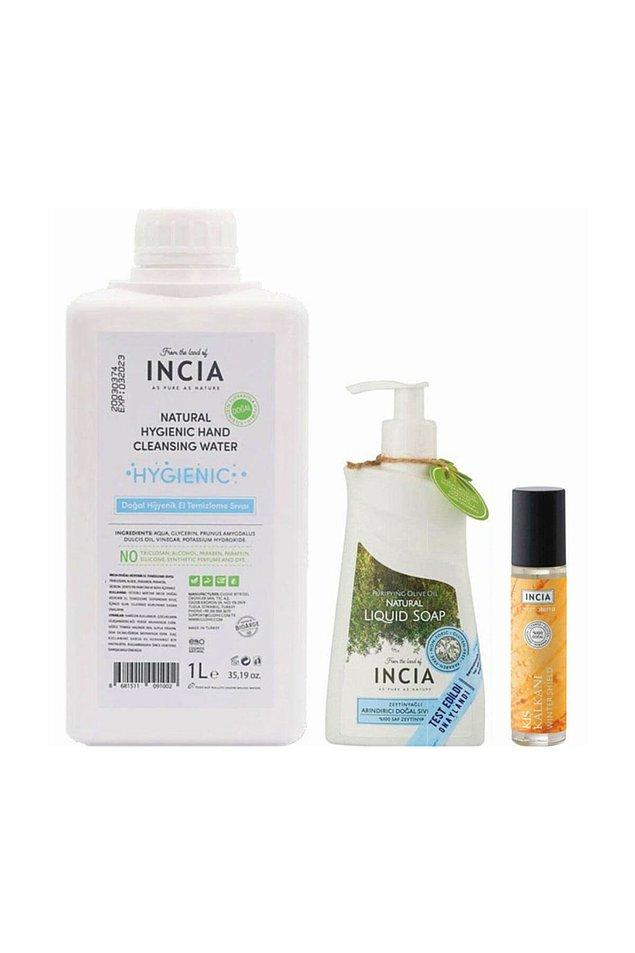 4. Kullandığım her şey doğal olsun diyenler bu sete bayılacak. Doğal bitkilerden elde edilen yağlar kullanılarak patent korumalı yöntemler ile üretilen sıvı sabun, doğal el dezenfektanı ve aromatik yağ.
