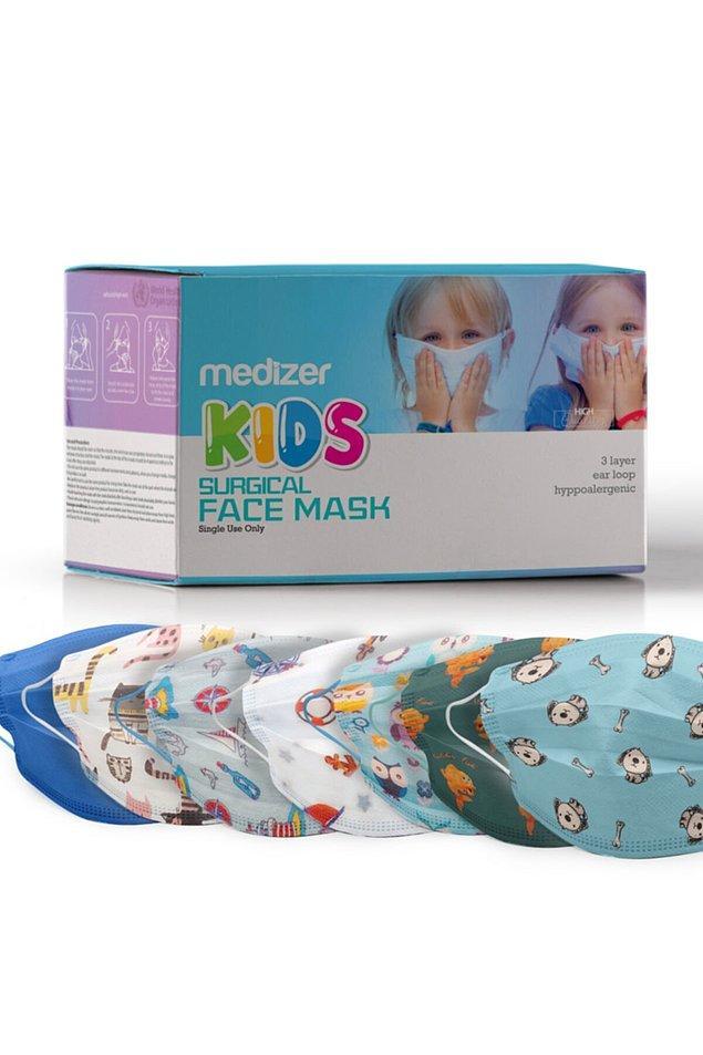 8. Burun telli, üfleme testinden geçmiş, çocuklar için farklı desenlerde üretilmiş olan bu kullan at çocuk maskeleri, piyasadaki en iyi ürünlerden biri.
