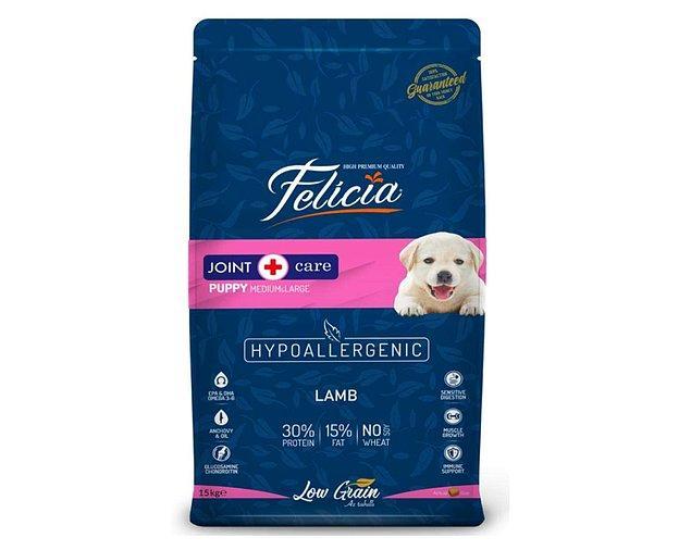 15. Felicia Az Tahıllı Yavru Köpek için Kuzulu M/Large Breed Hypoallergenic Mama 15 Kg