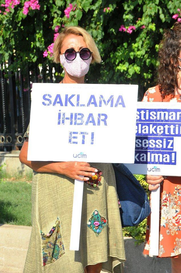 Duruşma 11 Kasım'a ertelenirken, davayı izleyen Saadet Öğretmen Çocuk İstismarı İle Mücadele Derneği de çıkışta basın açıklaması yaptı.