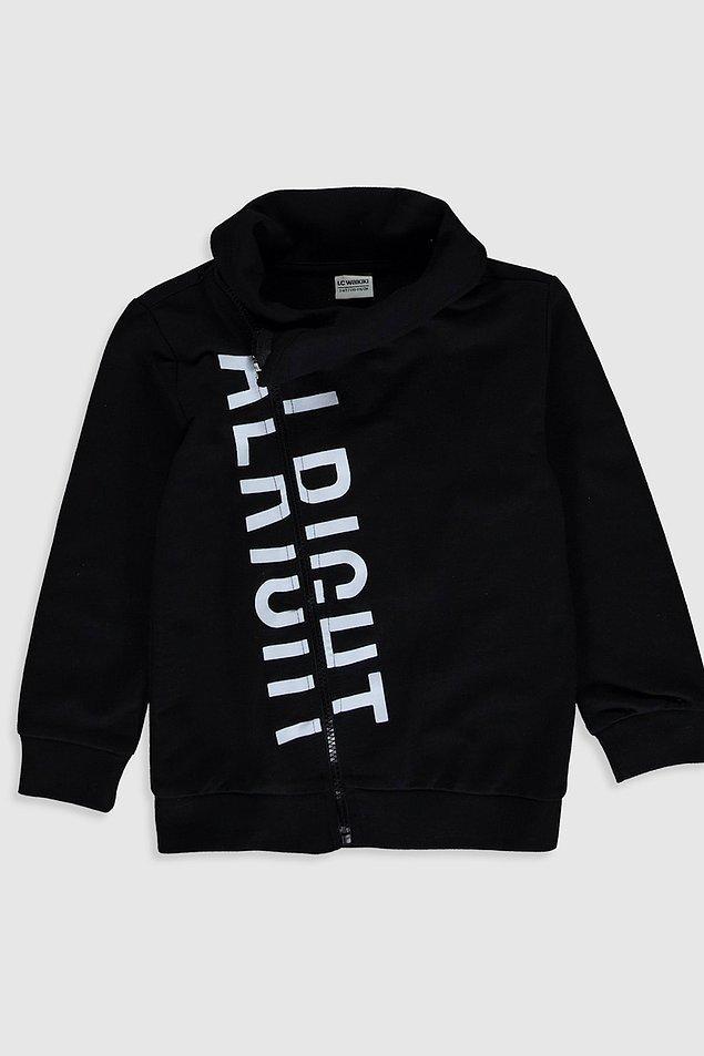 11. Haki rengi de bulunan cool sweatshirt'ün 14 yaşa kadar bedeni mevcut ve fiyatı şu anda indirimde 39 TL!