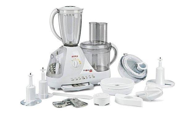 10. Arnica Prokit 444 Plus Beyaz Mutfak Robotu eliniz ayağınız olacak.