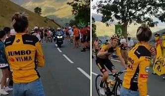 Salgın Nedeniyle Göremediği Sevgilisini Kısa Süreliğine de Olsa Görmek İçin Tour de France'ın 8. Etabına Giden Kadın