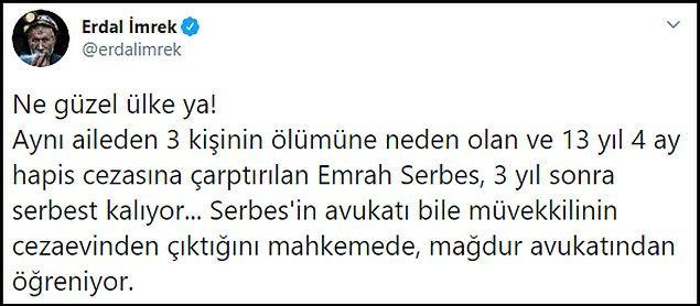 📌 Emrah Serbes'in tahliyesine sosyal medyanın tepkisi