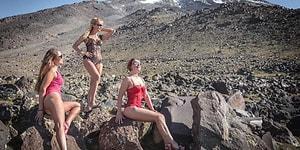 -3 Dereceye Meydan Okudular: Ukraynalı Kadın Dağcılardan Ağrı Dağı'nda Bikini ve Mayolu Pozlar