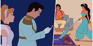 Disney Karakterlerini Modern Dünyaya Uyarlayarak Bambaşka Boyuta Taşıyan İllüstrasyonlar
