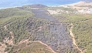 Deniz Manzaralı Alan Yanmış: Ayvalık Şeytan Sofrası'nda Yanan Bölge Havadan Görüntülendi
