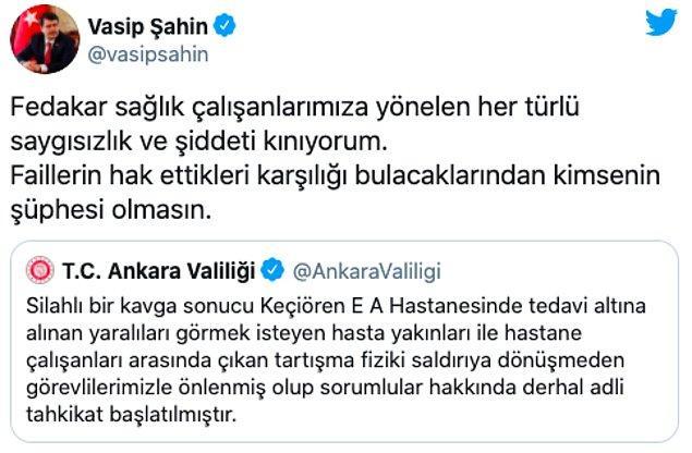 Ankara Valisi'nden de açıklama geldi