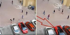 Lamborghini'den Kale Yapıp Mahalle Maçı Yapan Dubai'li Çocuklar