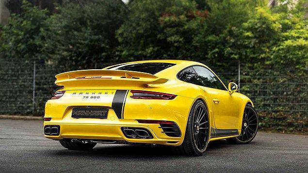 12. Bu Porsche 911 Turbo S, modifiye edildikten sonra 585 beygirden 860 beygire çıkmış!