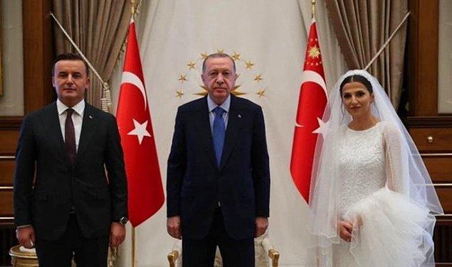 Nikahtan çıkıp Erdoğan'ı ziyaret etmişti