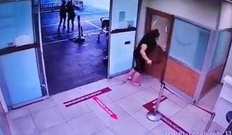 Maske Takmayan Kadın Hastanede Terör Estirdi: Polis Copuyla Camları Kırdı, Polise Saldırdı
