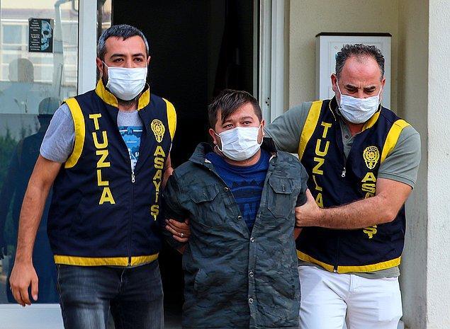 Olayın ardından gözaltına alınan ve adının Cihan A. olduğu öğrenilen şahıs, Tuzla'daki Orhanlı Polis Merkezindeki işlemlerinin ardından Kartal'daki Anadolu Adalet Sarayına sevk edildi.
