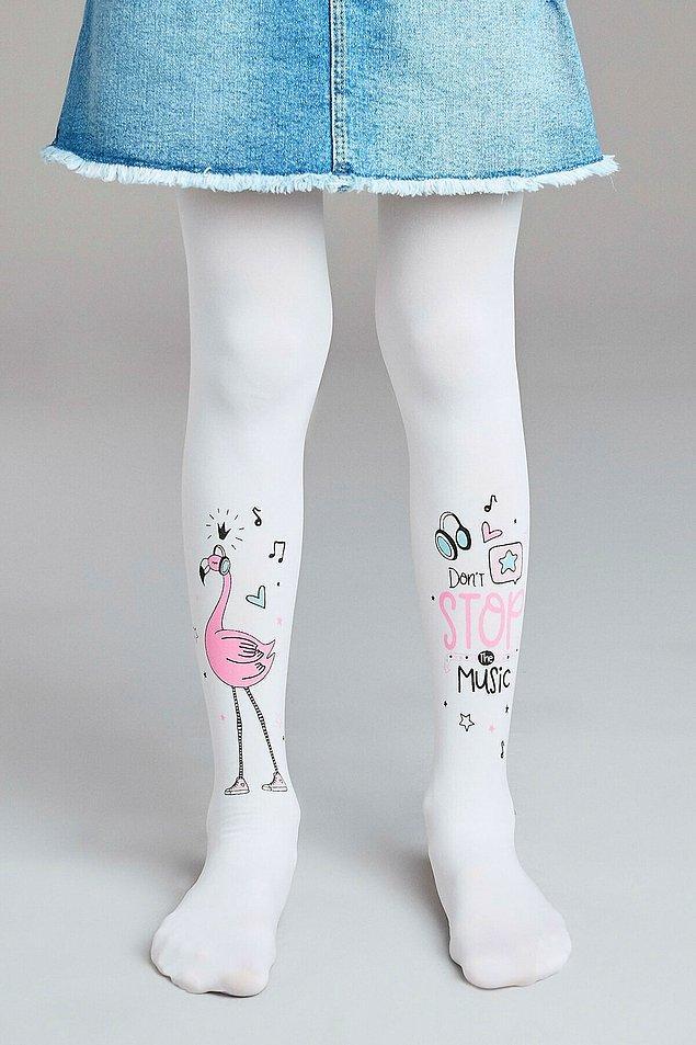 17. Flamingo sevenler buraya! Hele bir de 'müziksiz asla' diyenlerdenseniz bu çorap sizin için biçilmiş kaftan demektir.