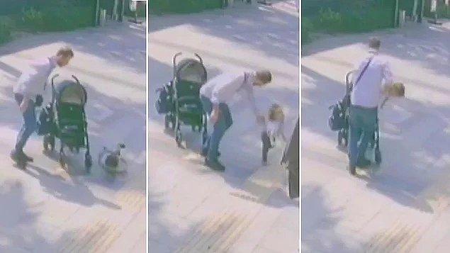 7. Bir babanın sokak ortasında çocuğuna acımasızca şiddet uygulaması...