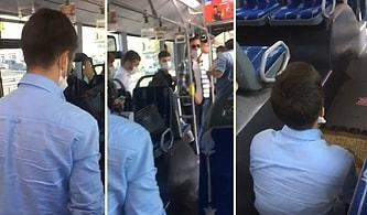 İnsanların Şaşkın Bakışları Arasında Metrobüste Ezan Okuyup Namaz Kılan Adam