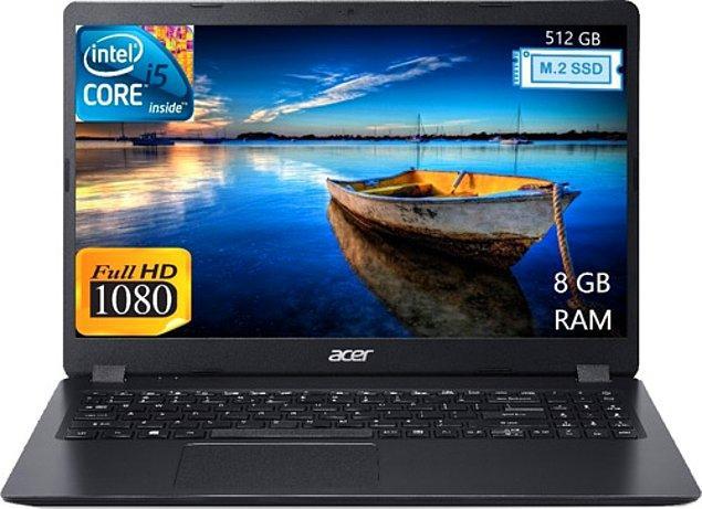 "9) Acer EXTENSA NX.EFPEY.002 i5-6300U 8 GB 512 GB SSD HD Graphics 520 15.6"" Full HD Notebook"