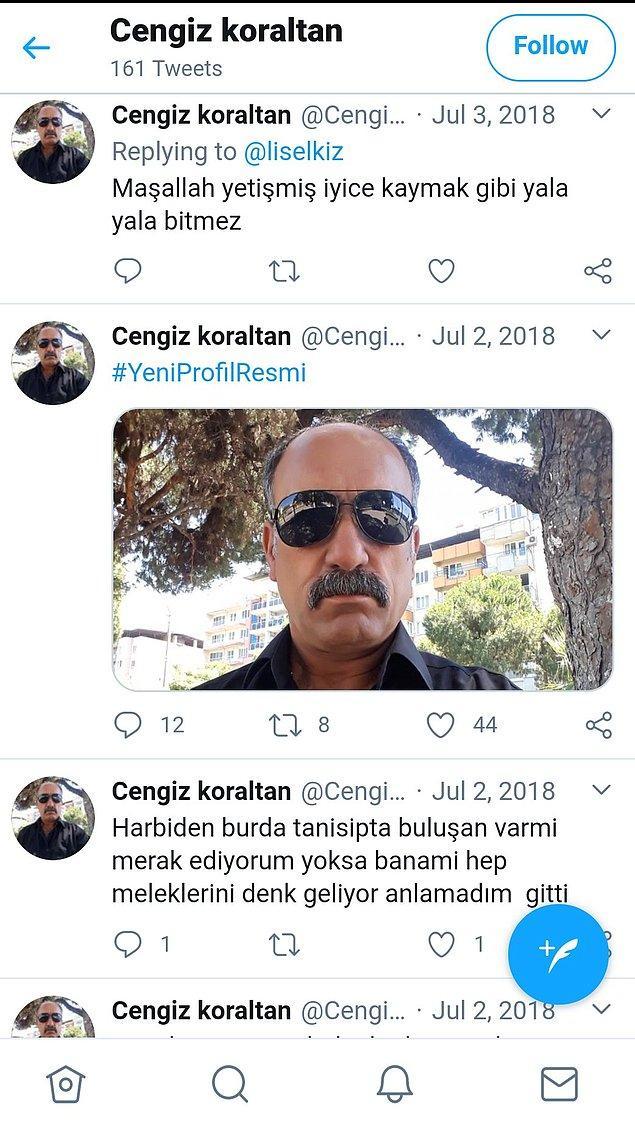 Ardından Cengiz adlı kişiye ait bir hesap ve tweetler ortaya çıktı! Yazışmalar da bunlar.