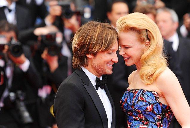 6. 2006 yılından bu yana evlilikleri süren Nicole Kidman ve Keith Urban çiftinde Nicole eşinden 2 cm daha uzun.