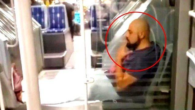 İstanbul'da yaşanan olayda, Beylikdüzü'den Cevizlibağ yönünde ilerleyen metrobüsteki yolcu ayaklarını uzatıp sigara içti.
