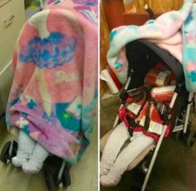1. Hırsızlık yapmak için bebek arabasıyla kamufle etmiş şu zekaya bakar mısınız?