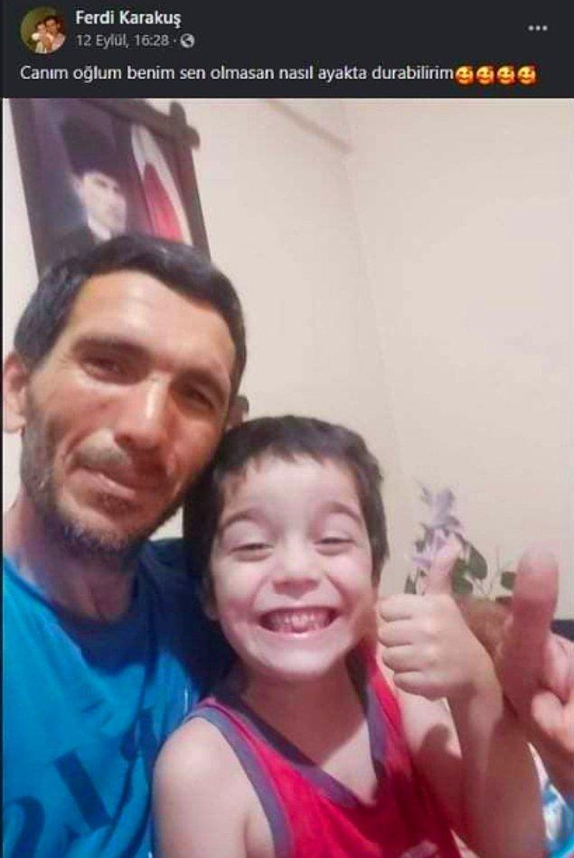 Fotoğraftaki Ferdi ile Esra'nın oğulları. Esra, Cengiz ile kaçarken büyük çocuğunu komşusuna bırakmıştı.