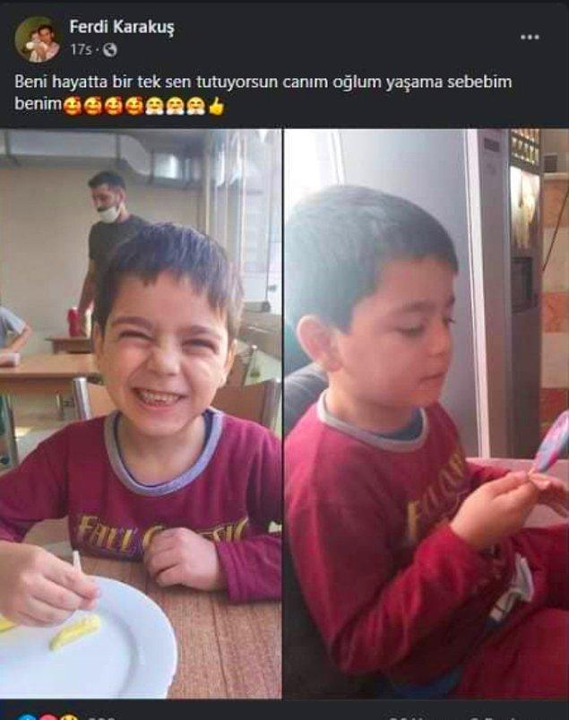 Ferdi küçük çocuğunun babasının 'abi' dediği Cengiz'den olduğunu öğrenince programda yıkılmıştı. Ardından da oğlu ile bu paylaşımları yaptı.