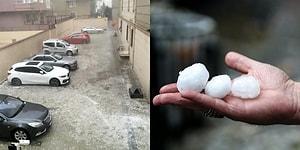 Araçlar Hasar Gördü! İstanbul Dolu ve Şiddetli Yağmura Teslim Oldu