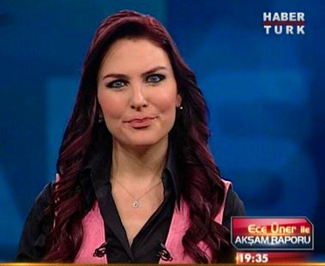 Ece Üner yıllar içinde NTV, CNN Türk ve HaberTürk gibi birçok kanalda spikerlik ve sunuculuk yaptı, bilenler bilir.