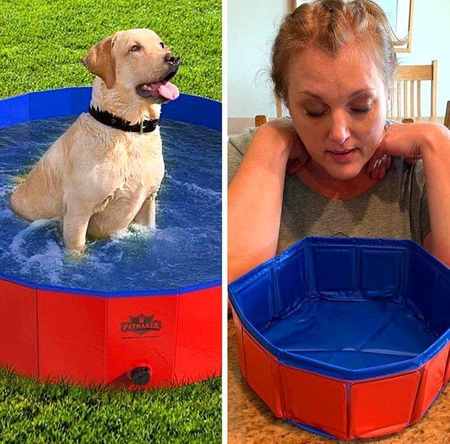 """3. """"XL köpek havuzu aldım."""""""